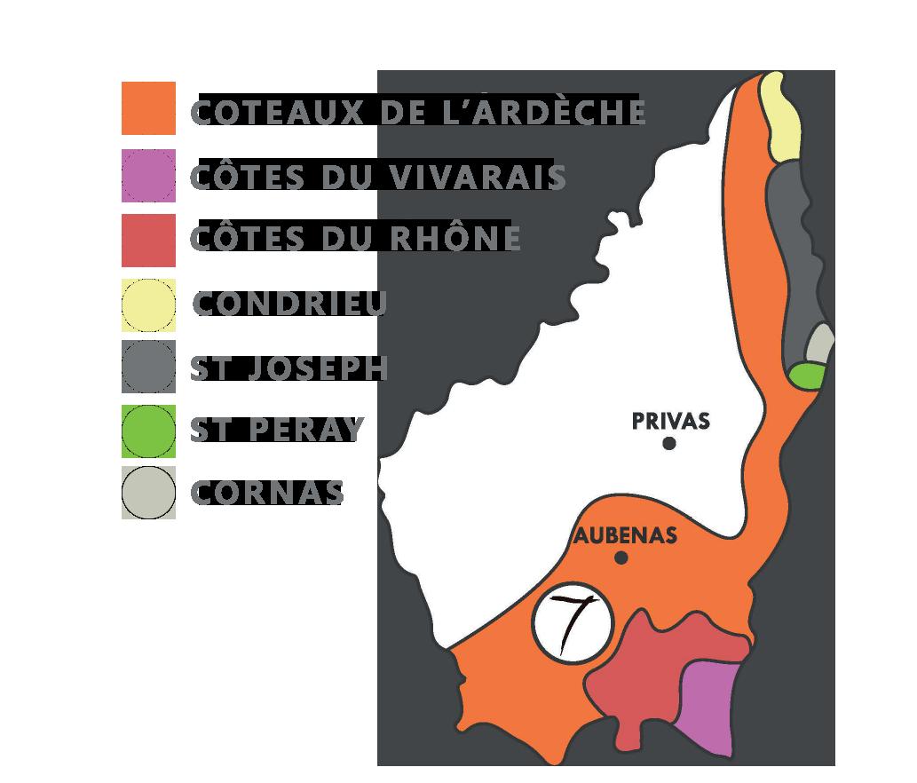 Les 7 appellations d'Ardèche par les Sept Pierres